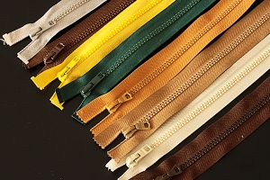 Chunky open end zips - various colours and sizes