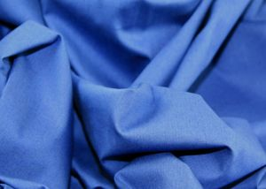 100% Cotton poplin plain dyed fabric cobalt blue