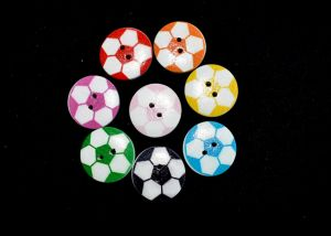 Football buttons, various colours