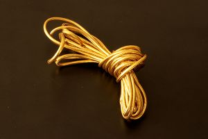 Gold covered cord