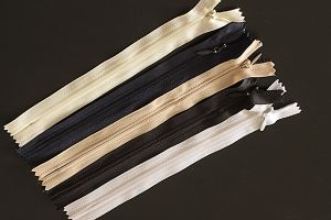 Concealed zips, 178mm (7 inch) - 558mm (22 inch), various colours