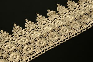 Wide ivory polyester lace