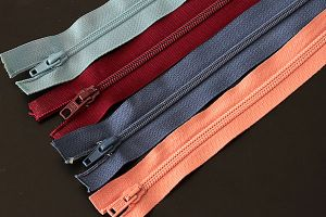 Lightweight open end zips, various colours and sizes