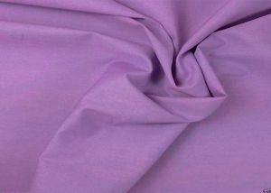 100% Cotton poplin plain dyed fabric lilac