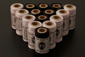 Machine embroidery threads - 500 metres per spool, black and white