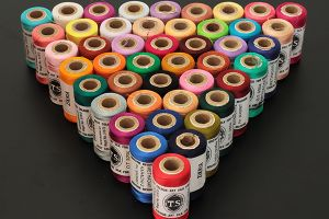 Machine embroidery threads - 500 metres per spool, coloured