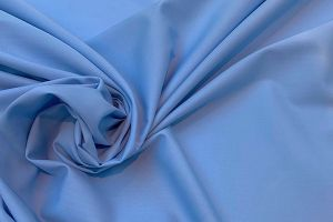 100% Cotton poplin plain dyed fabric pale blue