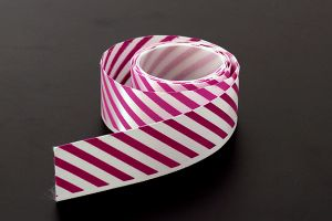 Pink candy striped satin ribbon, 25mm (1 inch) or 37.5mm (1.5 inch)