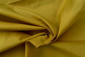 Plain dyed poly cotton mustard