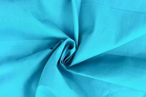 Plain dyed poly cotton teal
