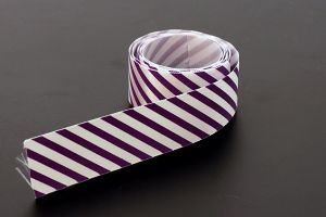 Purple candy striped satin ribbon, 25mm (1 inch) or 37.5mm (1.5 inch)