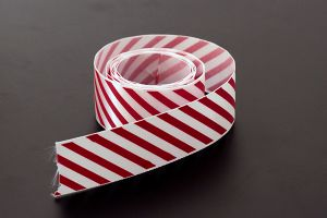 Red candy striped satin ribbon, 25mm (1 inch) or 37.5mm (1.5 inch)