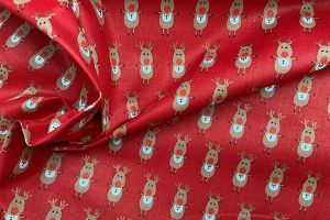 Rudolph Red 100% cotton print