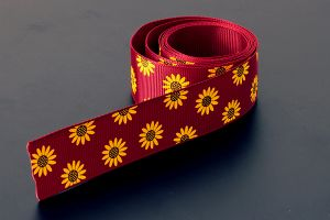 Flower Grosgrain Red/Yellow 25mm (1 inch)