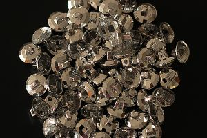Round crystal-style shank buttons, 12mm (half inch)