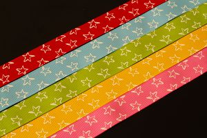 Star grosgrain ribbon 17mm (just over half inch) in various colours