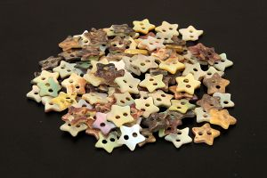 Star shaped mother of pearl buttons
