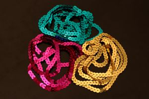 Strung sequin in various colours