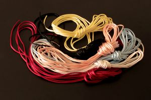 Strong thin coloured cord