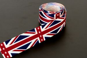 Union Jack Grosgrain 25mm (1 inch)