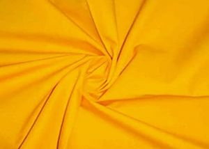 100% Cotton poplin plain dyed fabric yellow